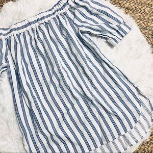 MICHAEL KORS • Striped OTS Tunic Top • Small